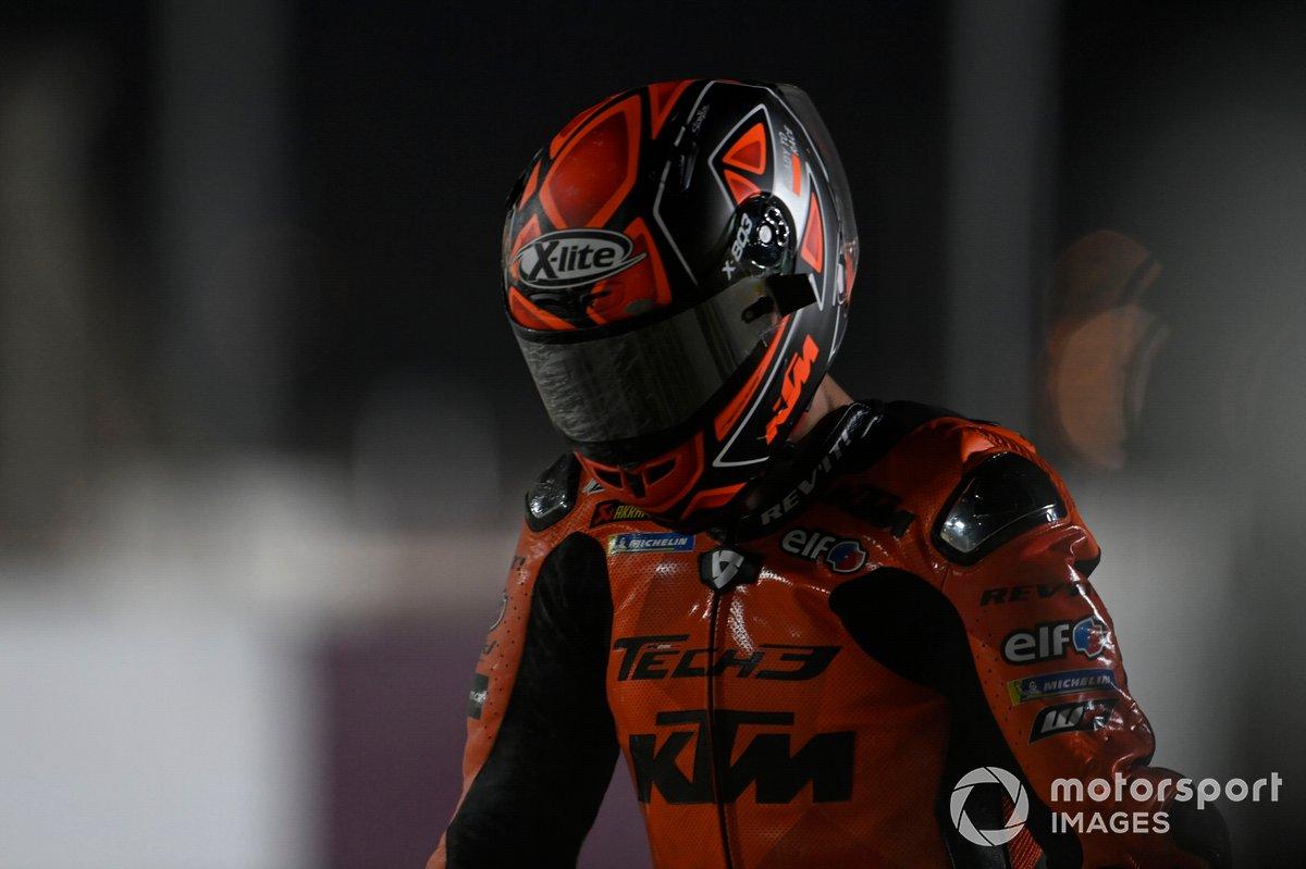 Caída de Danilo Petrucci, KTM Tech3