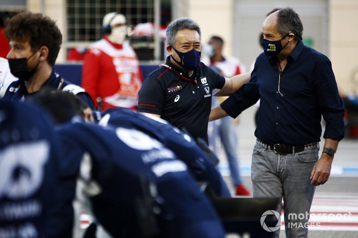 Masashi Yamamoto, director general de Honda Motorsport, y Gerhard Berger, presidente de ITR