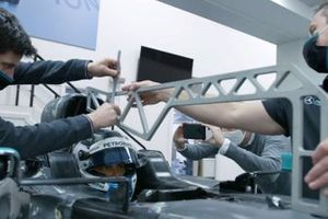 Mercedes W12 seat fit with Valtteri Bottas