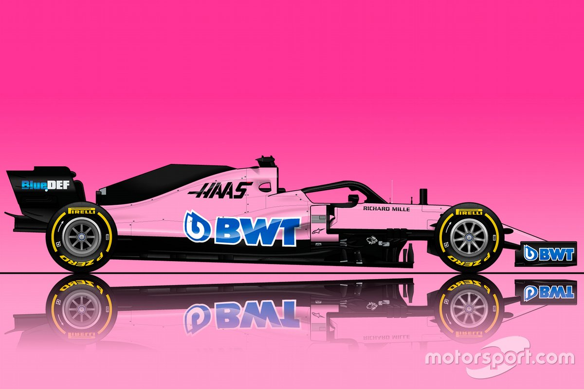 Rendering della Haas con i colori BWT