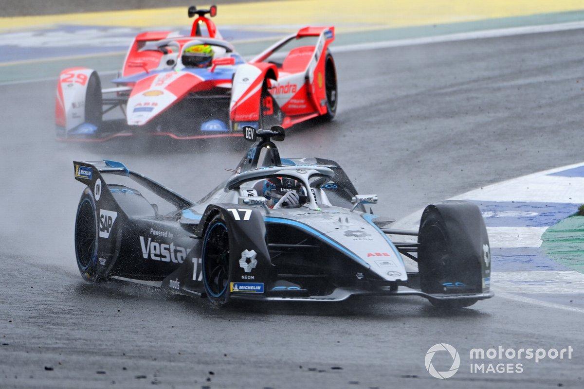 Nyck de Vries, Mercedes-Benz EQ, EQ Silver Arrow 02, Alexander Sims, Mahindra Racing, M7Electro, andAlex Lynn, Mahindra Racing, M7Electro