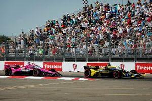 Colton Herta, Andretti Autosport Honda and Jack Harvey, Meyer Shank Racing Honda
