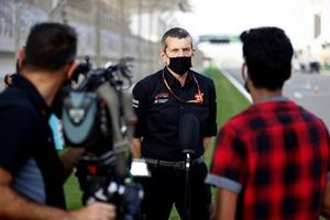 Guenther Steiner, Team Principal, Haas F1 speaks to the media on the day Mick Schumacher is announced as a Haas F1 driver