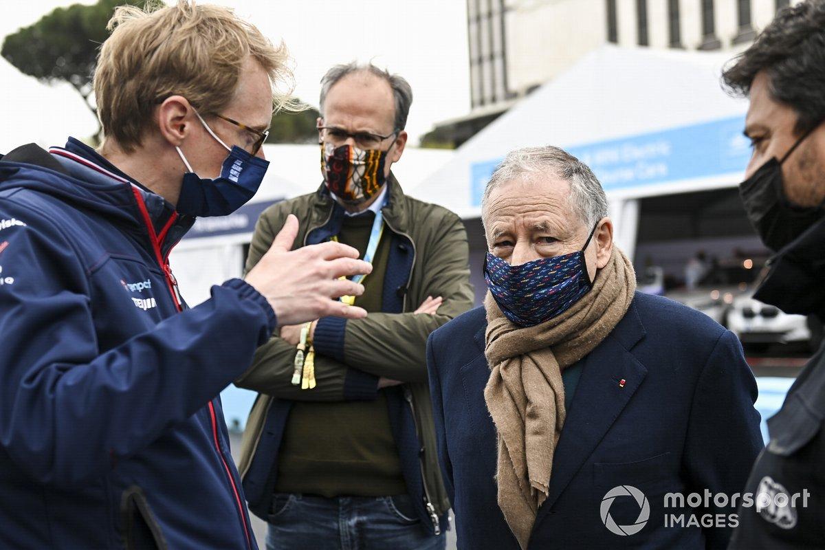 Sylvain Filippi, director de Envision Virgin Racing, Jean Todt, presidente de la FIA