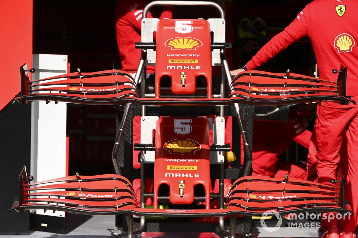 El alerón delantero del Ferrari SF1000