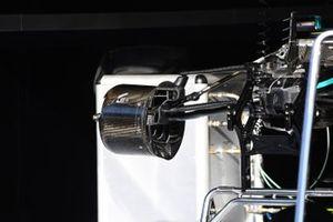 Mercedes F1 W11 front brake detail