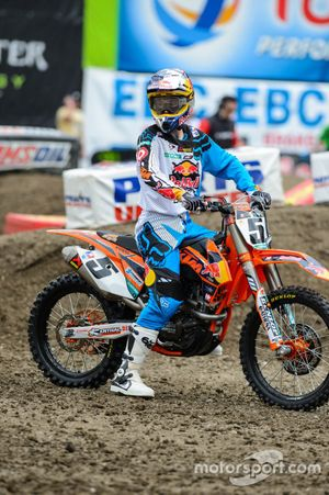 Ryan Dungey, Red Bull KTM Factory Racing, nadat zijn luchtveer leeg is gelopen.