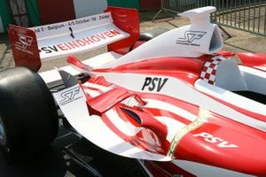 The Super League Car of PSV Eindhoven on display in the paddock during Formula BMW Europe Championship
