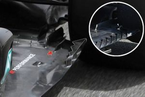 Mercedes W12 floor detail