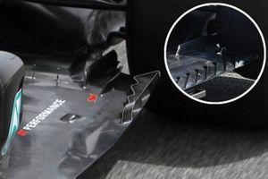 Le fond plat de la Mercedes W12