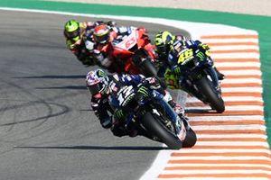 Maverick Vinales, Yamaha Factory Racing, Valentino Rossi, Yamaha Factory Racing, Francesco Bagnaia, Pramac Racing, Cal Crutchlow, Team LCR Honda