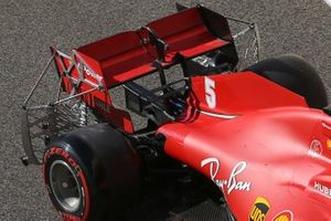 Ferrari SF1000 rear wing detail with sensors