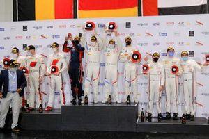 Podium: Winners #34 Walkenhorst Motorsport BMW M6 GT3: Augusto Farfus, Nicky Catsburg, Sheldon van der Linde, second place #32 Audi Sport Team WRT Audi R8 LMS GT3: Mirko Bortolotti, Charles Weerts, Frederic Vervisch, third place #12 GPX Racing Porsche 911 GT3 R: Matt Campbell, Patrick Pilet, Mathieu Jaminet
