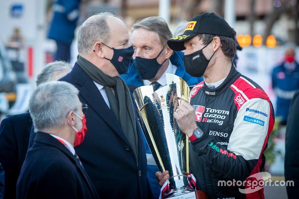 Albert II, Prince de Monaco avec Sébastien Ogier, Toyota Gazoo Racing