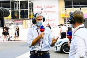Damon Hill, Sky TV, y Simon Lazenby, Sky TV