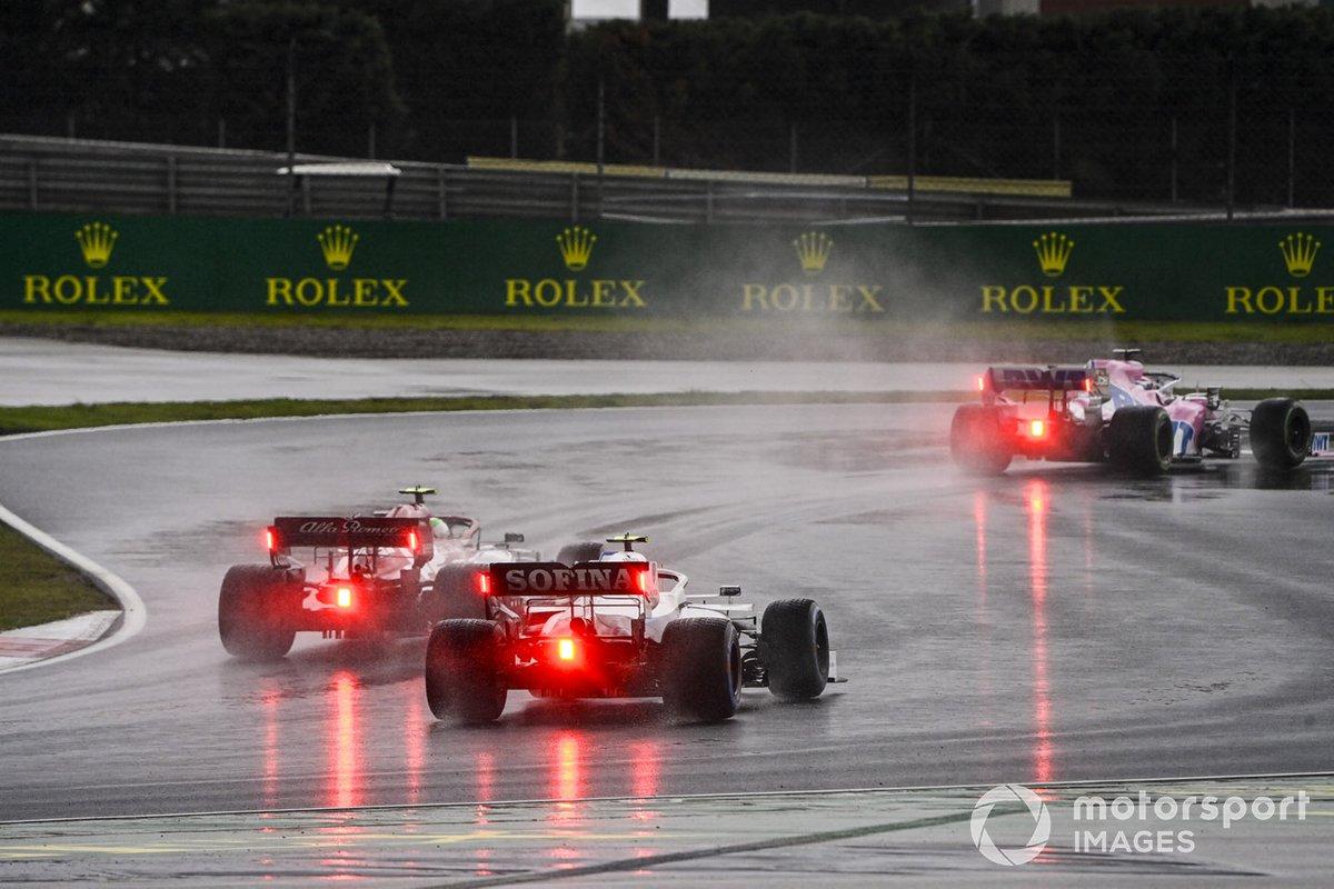 Sergio Pérez, Racing Point RP20, Antonio Giovinazzi, Alfa Romeo Racing C39, Nicholas Latifi, Williams FW43