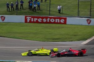 Simon Pagenaud, Team Penske Chevrolet, Alex Palou, Dale Coyne Racing con il Team Goh Honda