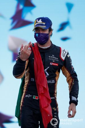 Antonio Felix da Costa, DS Techeetah celebrates on the podium