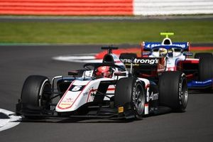 Marcus Armstrong, ART Grand Prix, leads Robert Shwartzman, Prema Racing