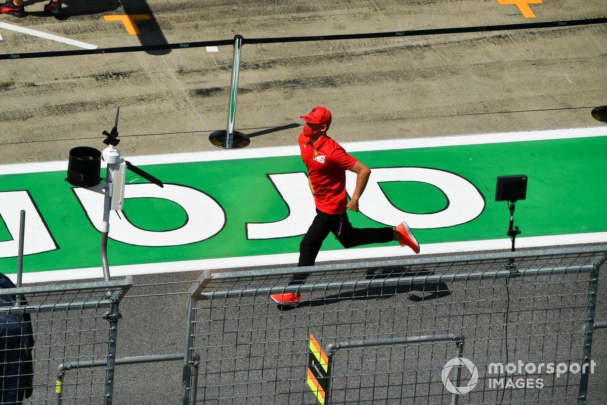 Mick Schumacher, Prema Racing en pit lane