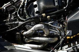 Lance Stroll, Racing Point RP19, rentre au stand sans capot moteur