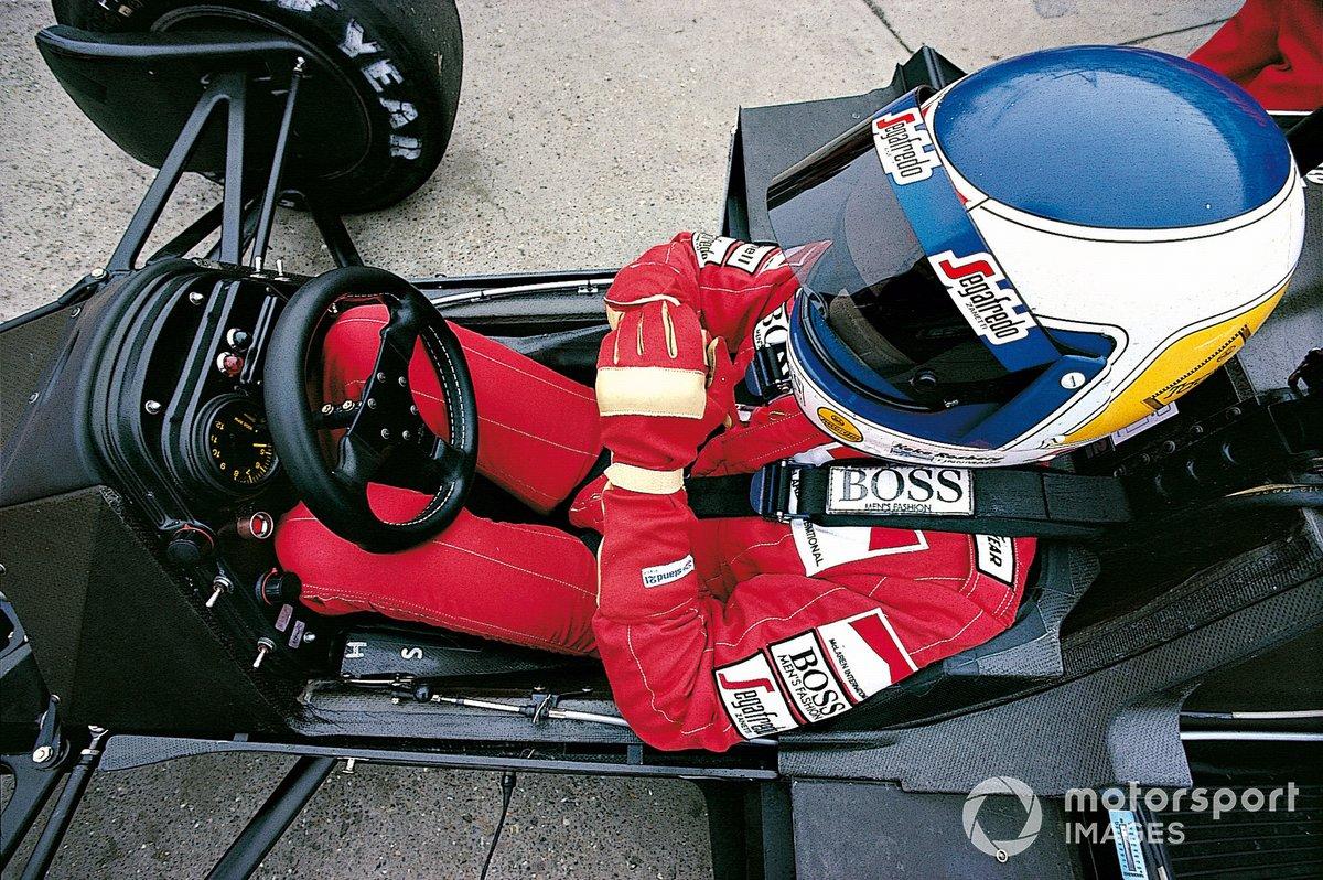 Кеке Росберг в McLaren MP4/2C на Гран При Великобритании 1986 года