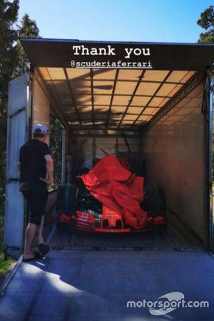Ferrari ha regalado el SF71H a Kimi Raikkonen