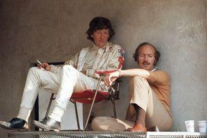 Jochen Rindt with team boss Colin Chapman, Lotus