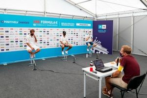 Jean-Eric Vergne, DS Techeetah, Antonio Félix da Costa, DS Techeetah, Maximilian Gunther, BMW I Andretti Motorsports, in conferenza stampa