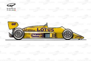 Lotus 99T side view