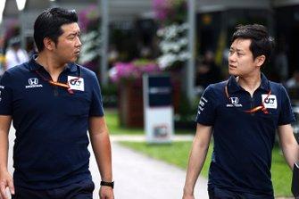 Honda staff in the paddock