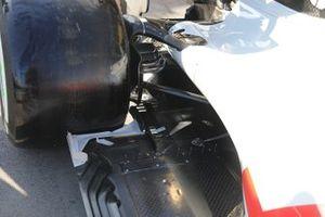 Dettaglio del fondo della Williams FW43