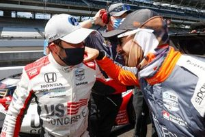 Marco Andretti, Andretti Herta with Marco & Curb-Agajanian Honda celebrates after winning the NTT P1 Award and pole