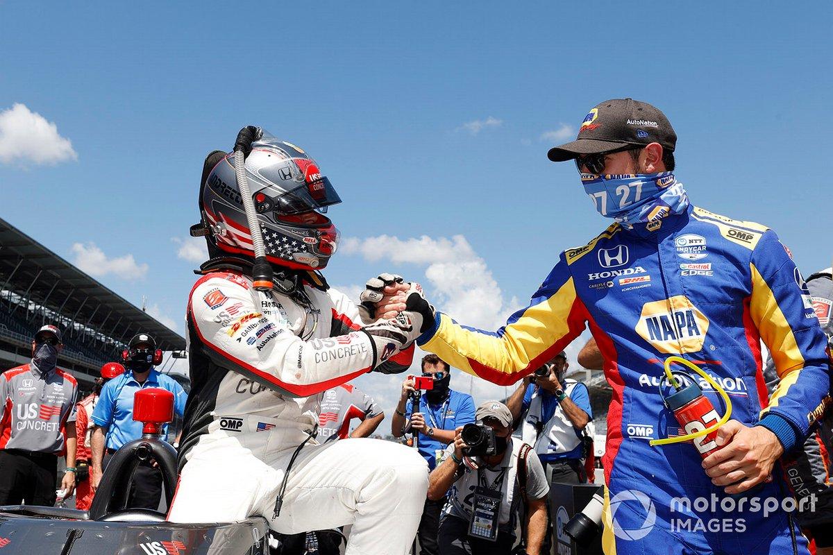 Il vincitore del Pole Award: Marco Andretti, Andretti Herta with Marco & Curb-Agajanian Honda and Alexander Rossi, Andretti Autosport Honda