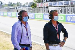 Nico Rosberg and Martin Brundle, Sky TV