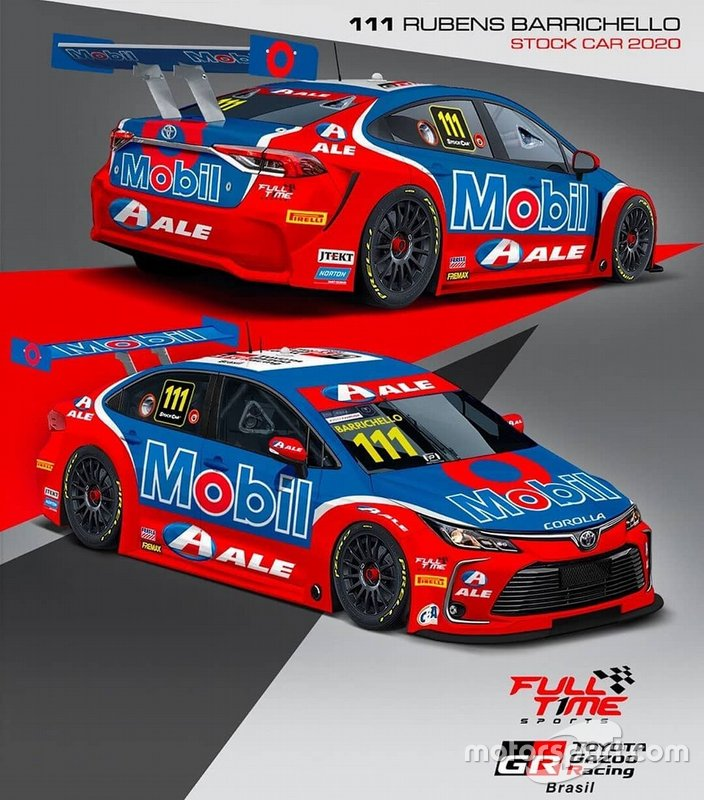 2020 (Stock Car): Layout do Toyota Corolla que Barrichello usará em 2020