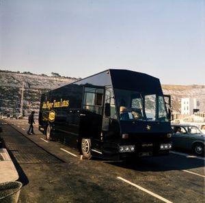 The Team Lotus transporter