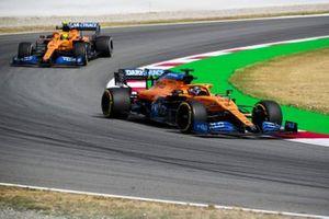 Carlos Sainz Jr., McLaren MCL35 and Lando Norris, McLaren MCL35