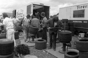 The Firestone tyre yard