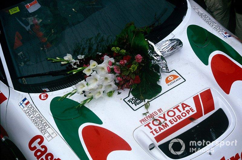 Winners car of Juha Kankkunen, Denis Giraudet, Toyota Celica Turbo 4WD