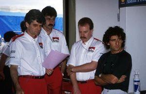 Steve Nichols, Gordon Murray, Neil Oatley, Alain Prost