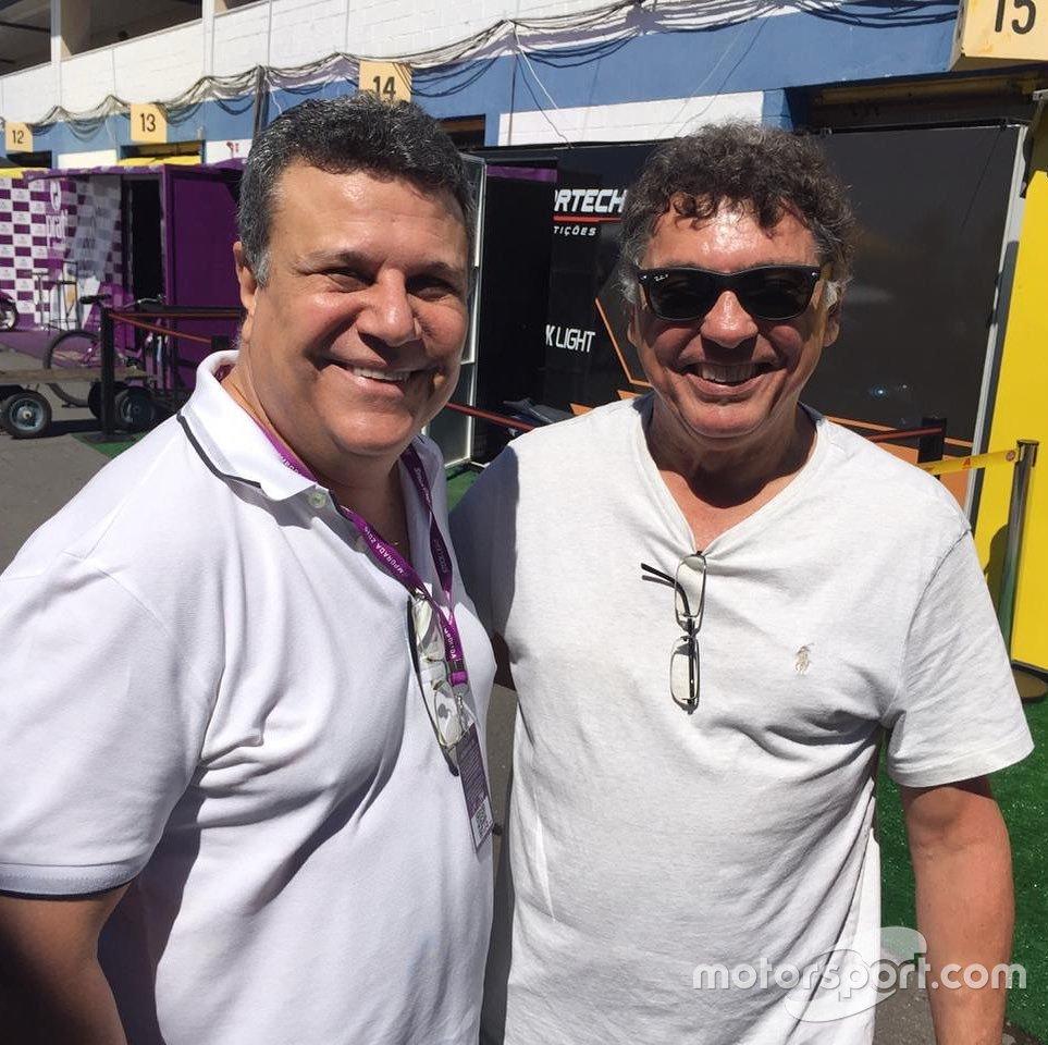 Téo José e Alencar Jr, ex-piloto da Stock Car