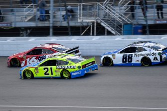 Paul Menard, Wood Brothers Racing, Ford Mustang Menards / NIBCO and Alex Bowman, Hendrick Motorsports, Chevrolet Camaro Nationwide