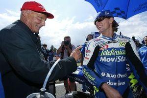 Niki Lauda and Sete Gibernau