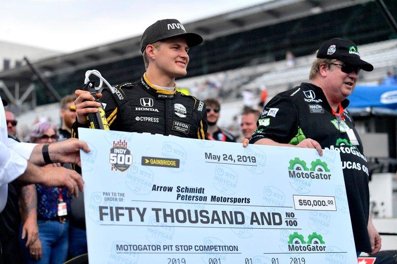 Marcus Ericsson, Arrow Schmidt Peterson Motorsports Honda, Pit Stop Competition