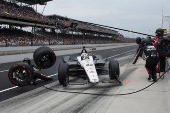 Accidente en pits de Jordan King, Rahal Letterman Lanigan Racing Honda