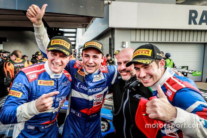 Los ganadores: #72 SMP Racing Ferrari 488 GT3: Davide Rigon, Mikhail Aleshin, Miguel Molina