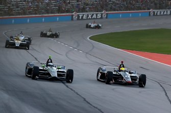 Josef Newgarden, Team Penske Chevrolet, Spencer Pigot, Ed Carpenter Racing Chevrolet
