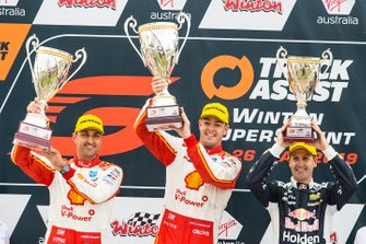 Podium: 1. Scott McLaughlin, 2. Fabian Coulthard, 3. Jamie Whincup