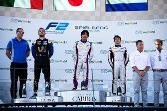Nobuharu Matsushita, Carlin Luca Ghiotto, UNI Virtuosi Racing and Nyck De Vries, ART Grand Prix